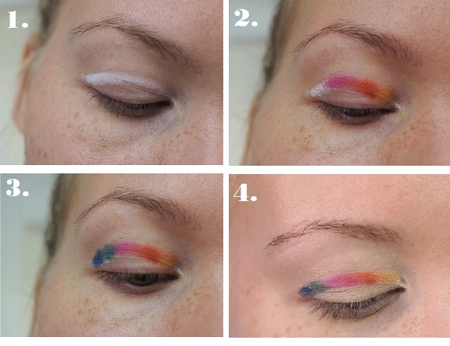 rainbow eye tutorial