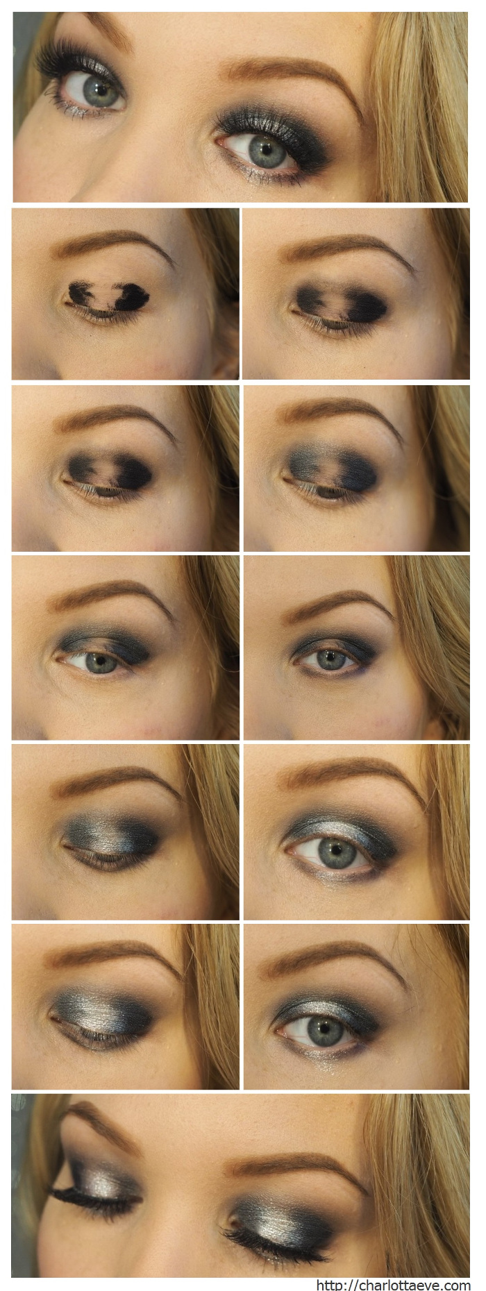 black silver halo eye pictorial