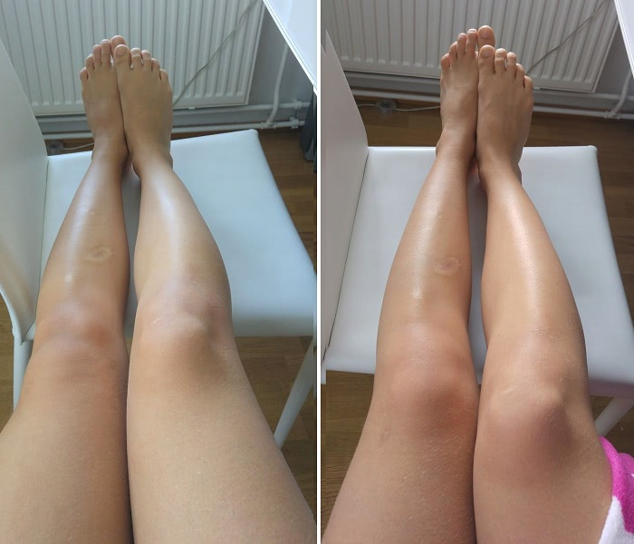 Eco by sonya firming cacao mousse before after