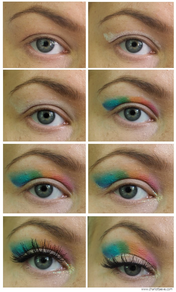 raimbow cut crease for deep set hooded eyes