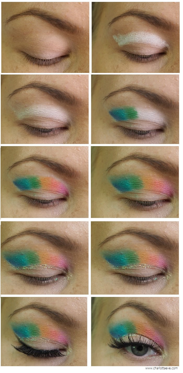 raimbow cut crease tutorial for hooded deep set eyes