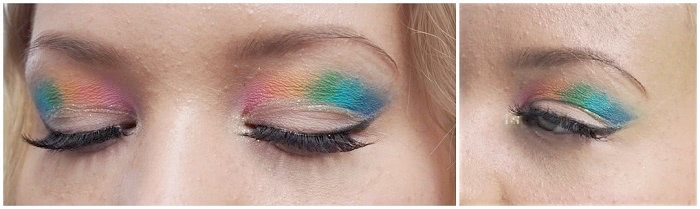 rainbow cut crease hooded eyes tutorial