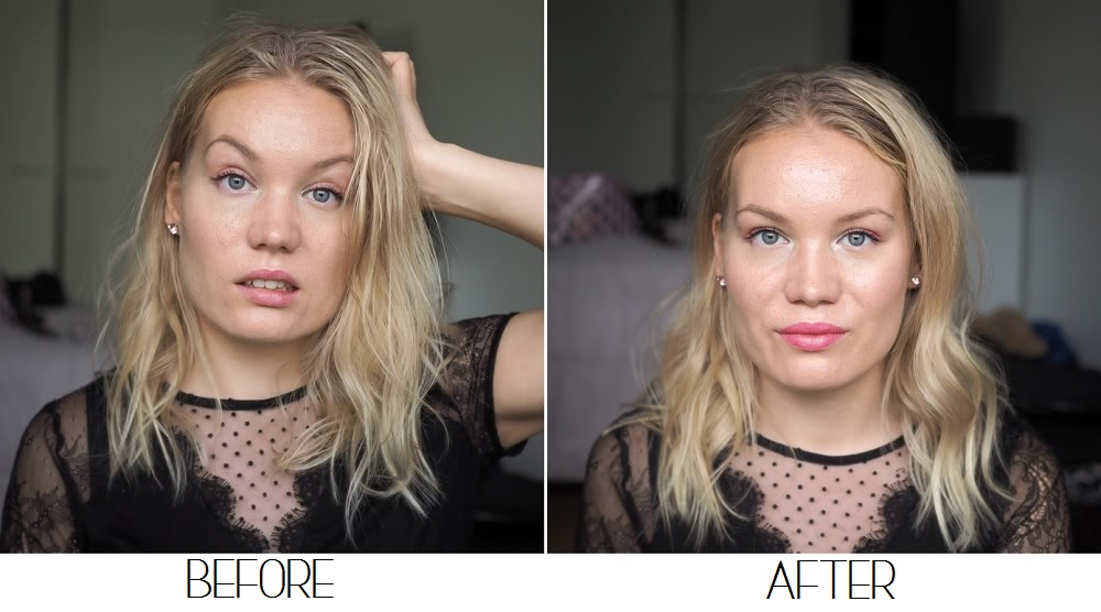 Before After quick makeup