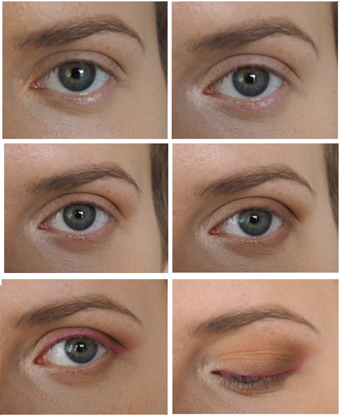 Eyeshadow for protruding round eyes
