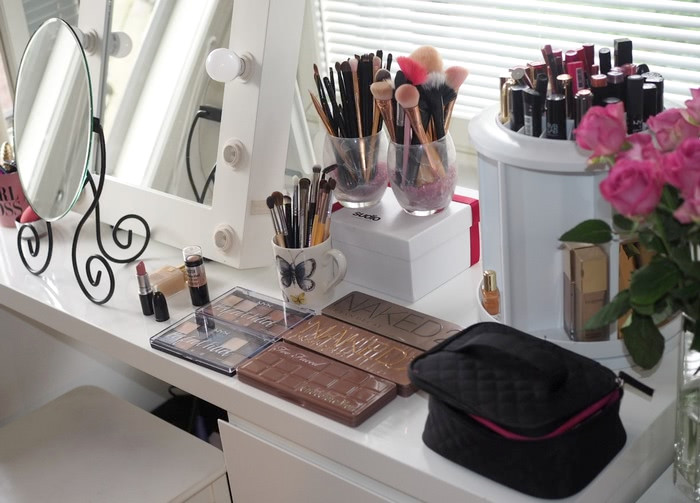 my vanity makeup table