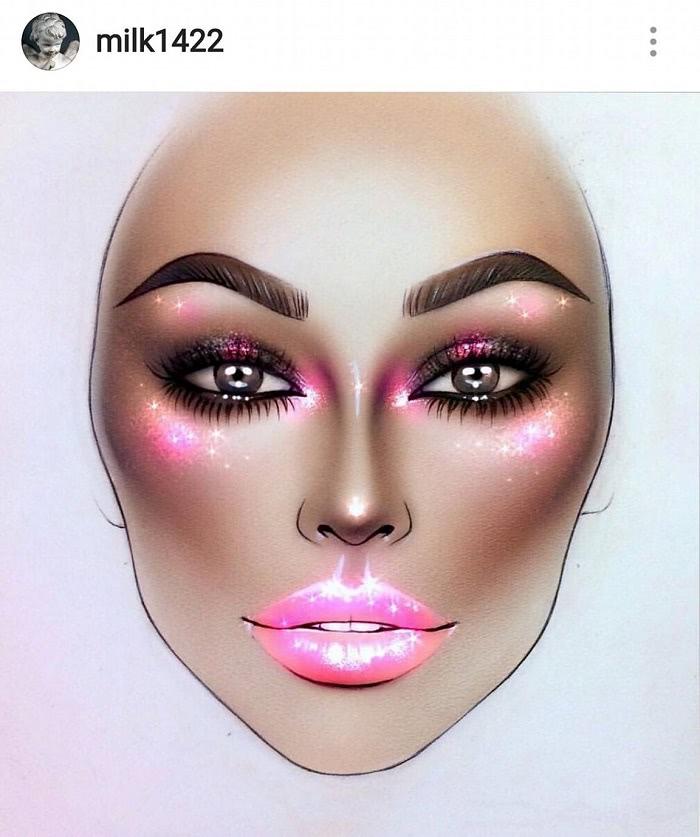 milk1422 makeup
