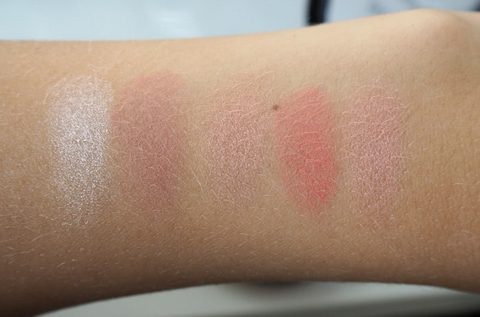 isadora blush & glow swatches