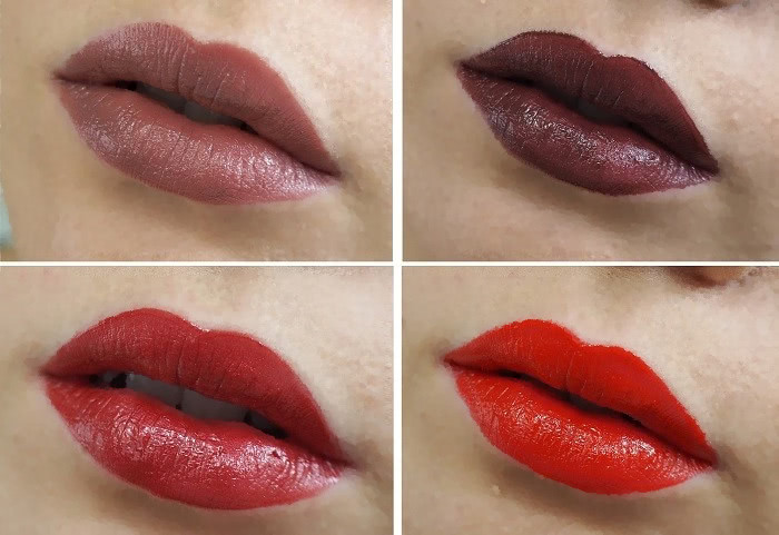 isadora liquid cream lipstick swatches