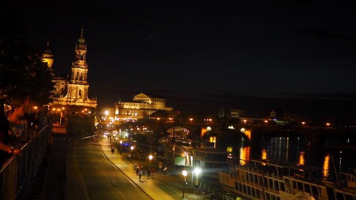 dresden germany by night