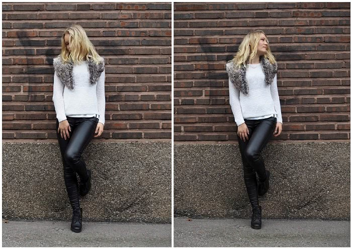 fall style inspiration leather pants