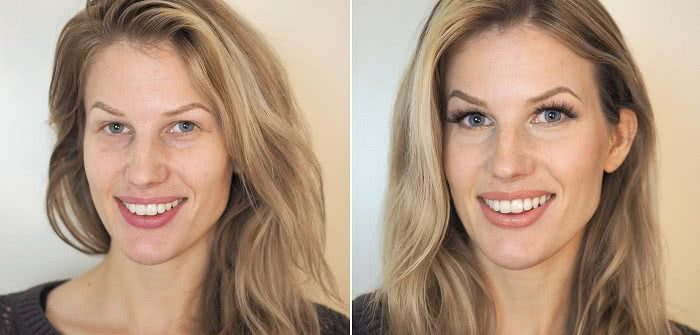 Before after makeup deep set eyes