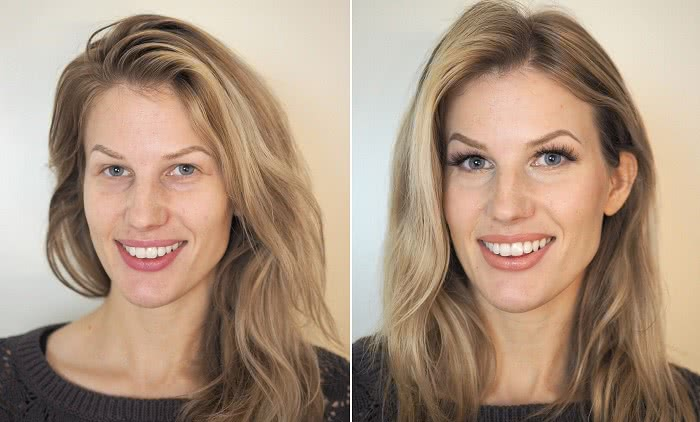 Before after makeup deep set eyes