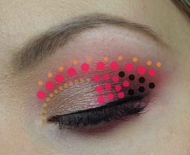 half cut crease colour placement