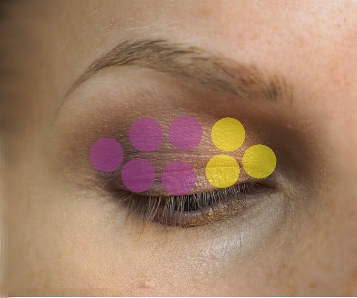 very deep set eyes eyeshadow application