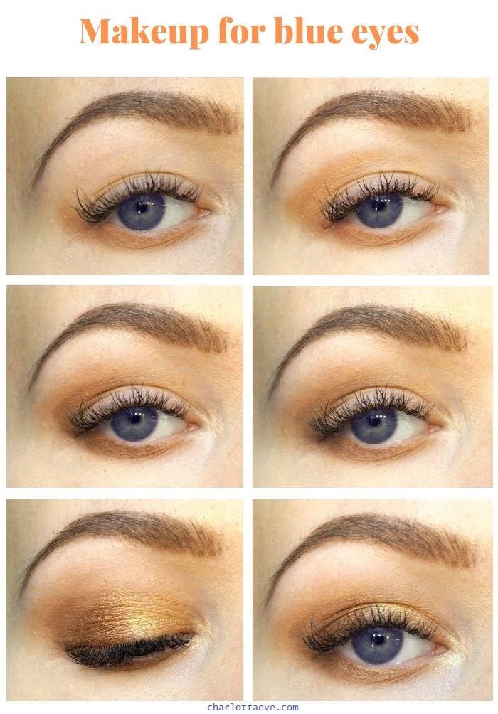 makeup for blue eyes tutorial