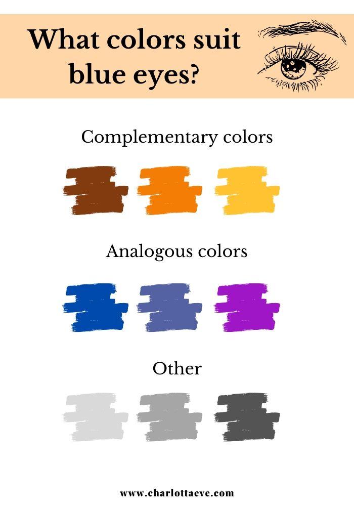 What colors suit blue eyes makeup