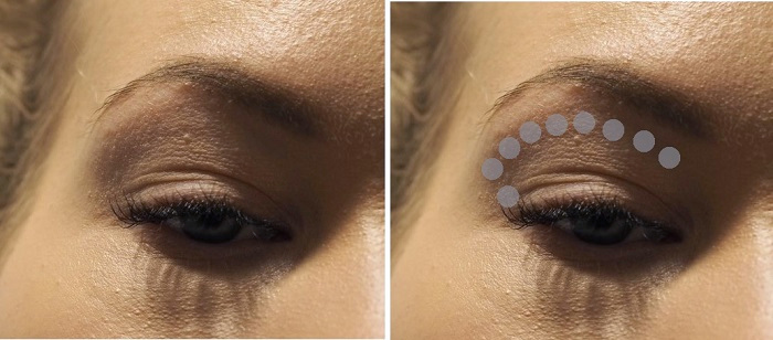 eyeshadow trick for hooded deep set eyes