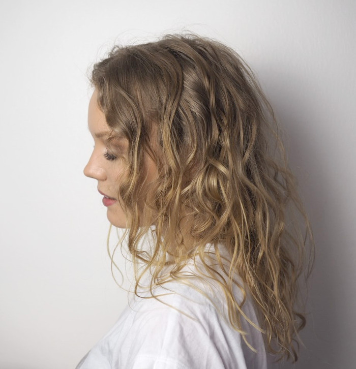naturally curly hair routine