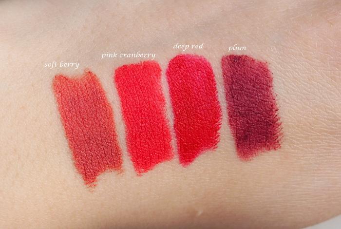 clarins joli rouge velvet swatches