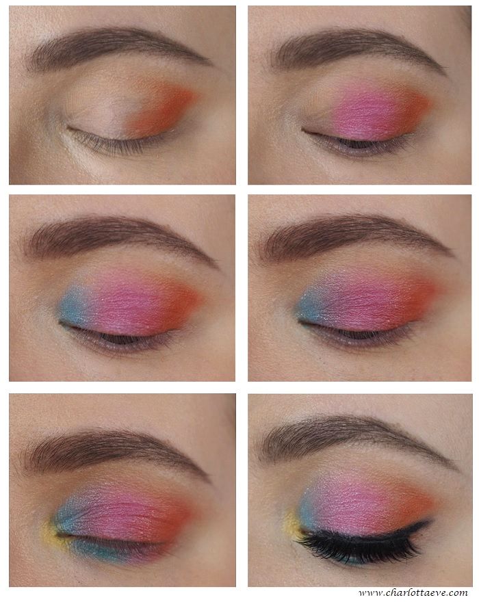 colorful festival makeup tutorial