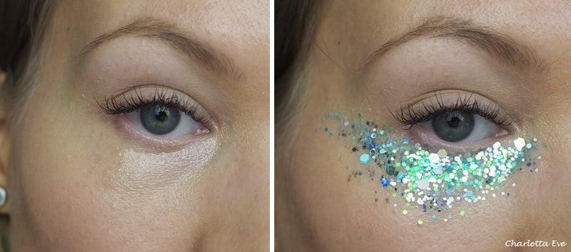 glitter under eyes