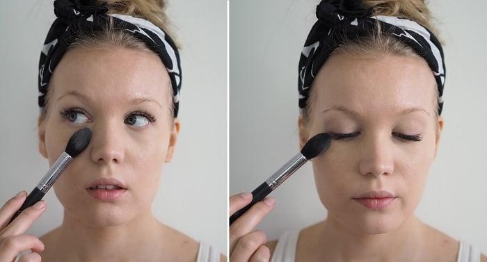 glowy face under eye powder