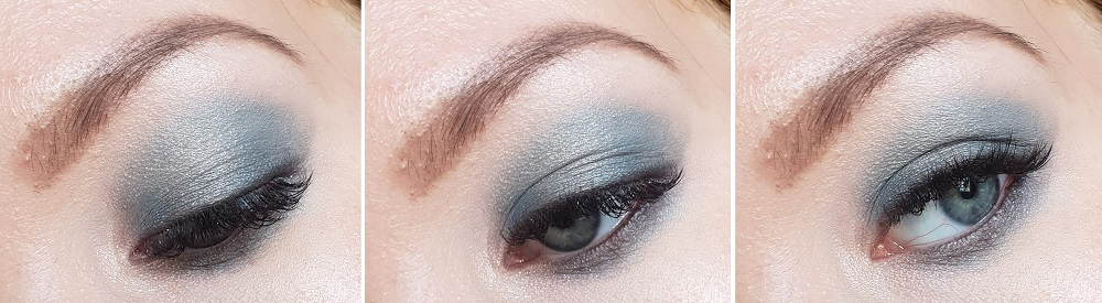 grey turquoise makeup simple tutorial