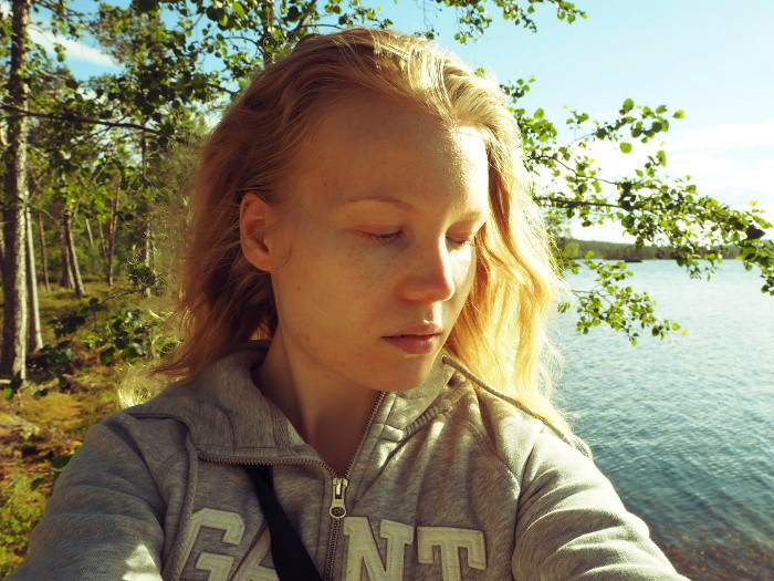 lapland selfie