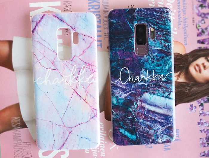 personalized marble phone cases