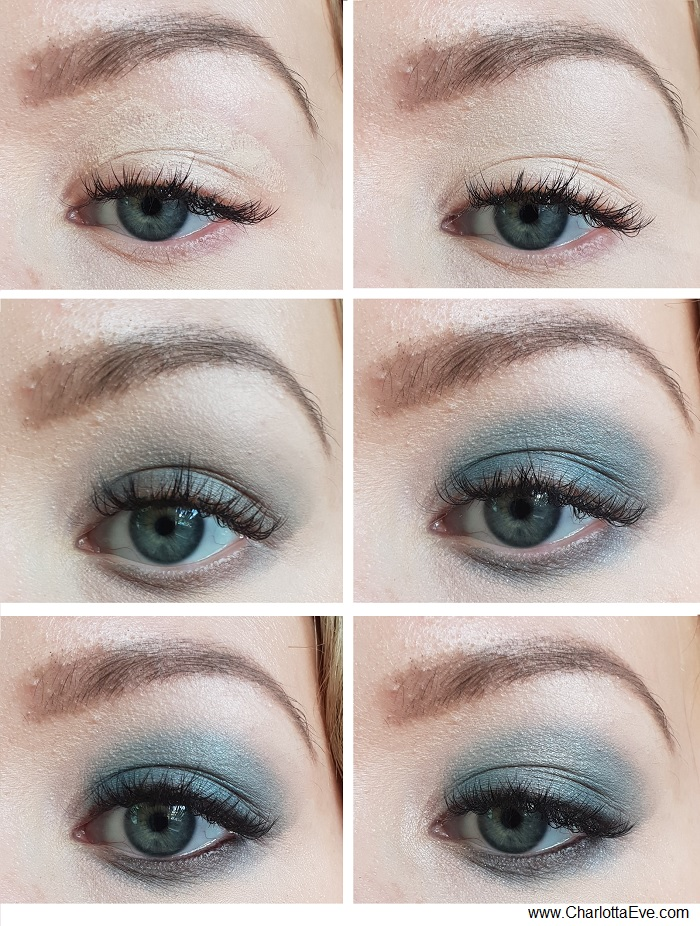Simple Grey Turquoise Smokey Eye Makeup
