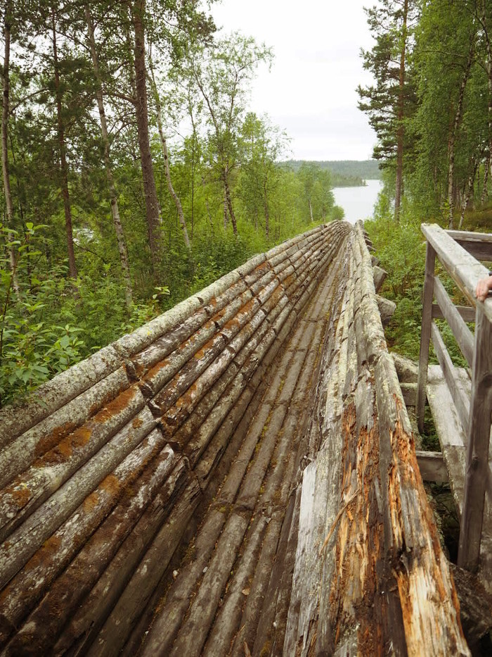 wood flume nellim