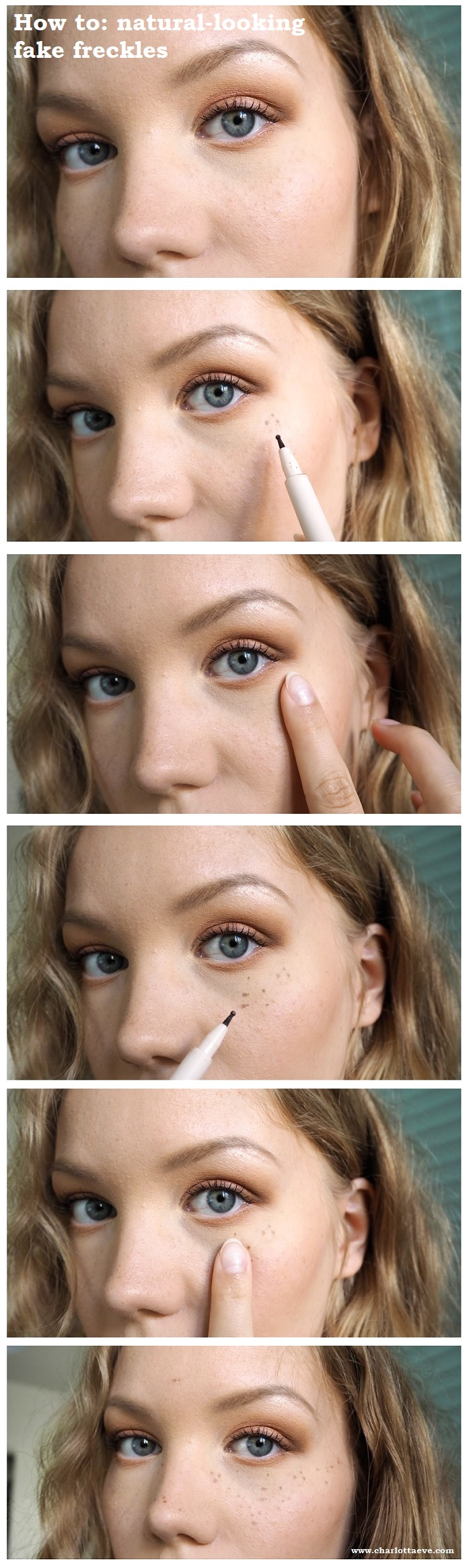 fake freckles tutorial