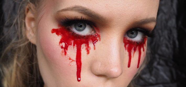 blood tears halloween makeup