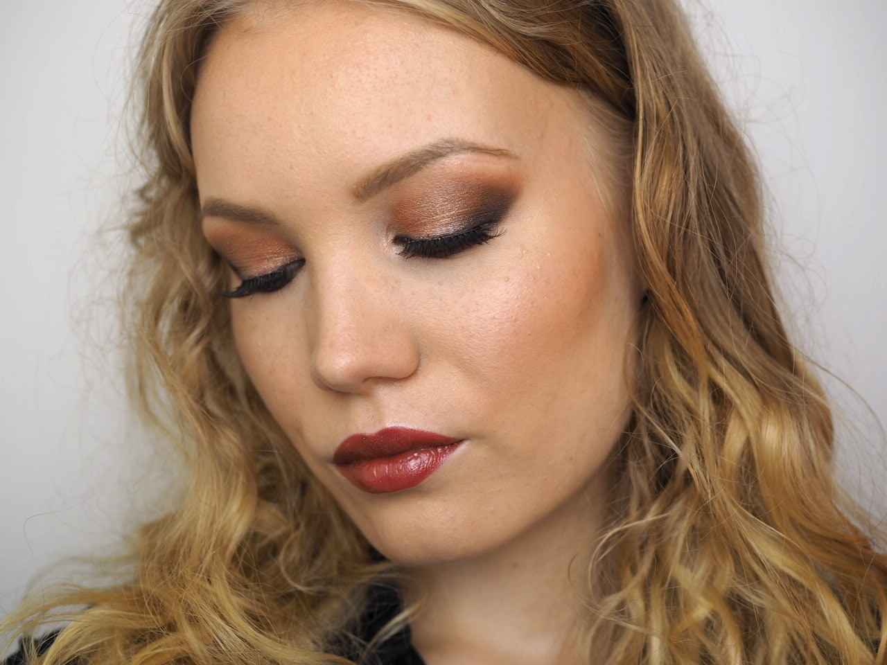fall makeup tutorial burnt orange