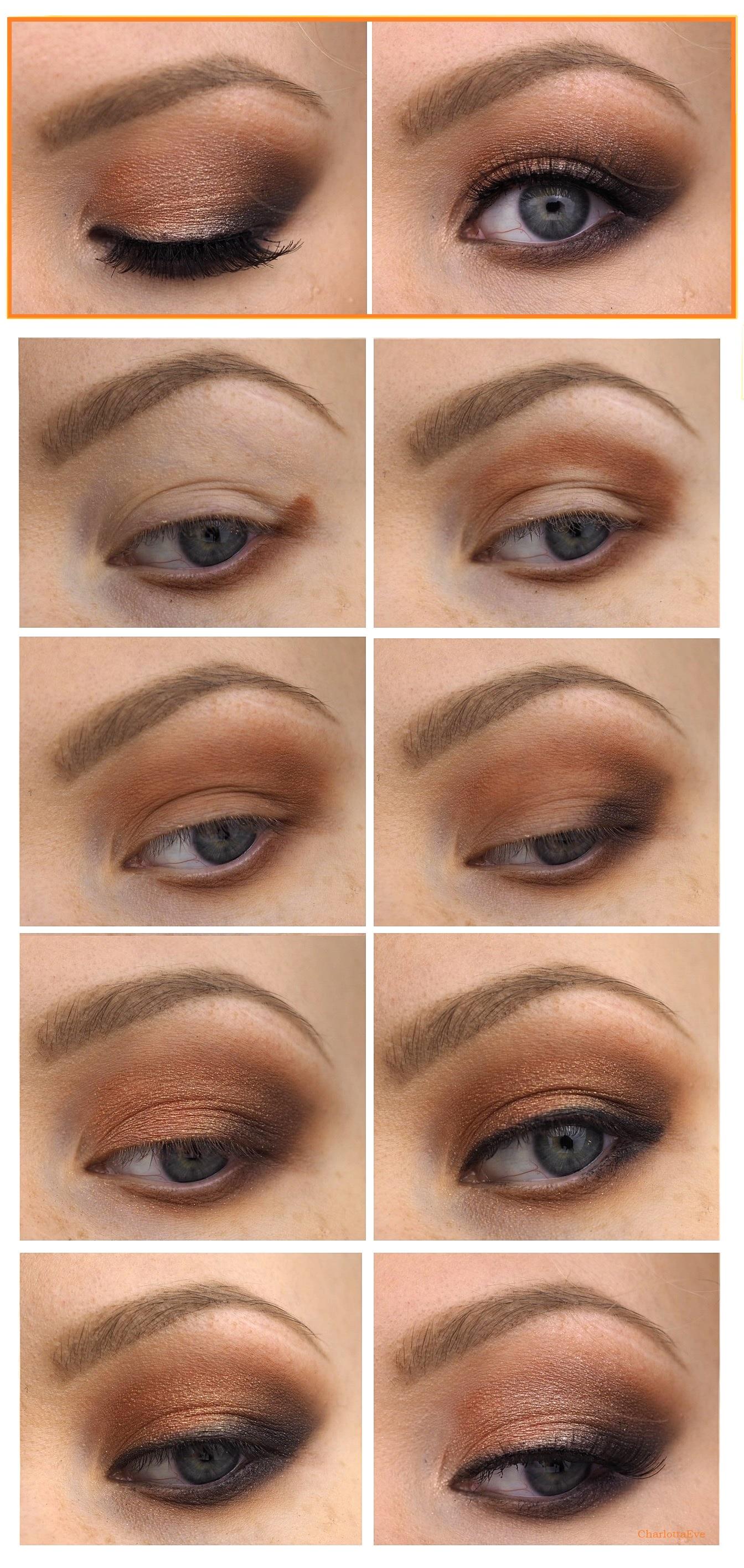 Fall Makeup Tutorial Using Vice 4 Burnt Orange Smokey Eye