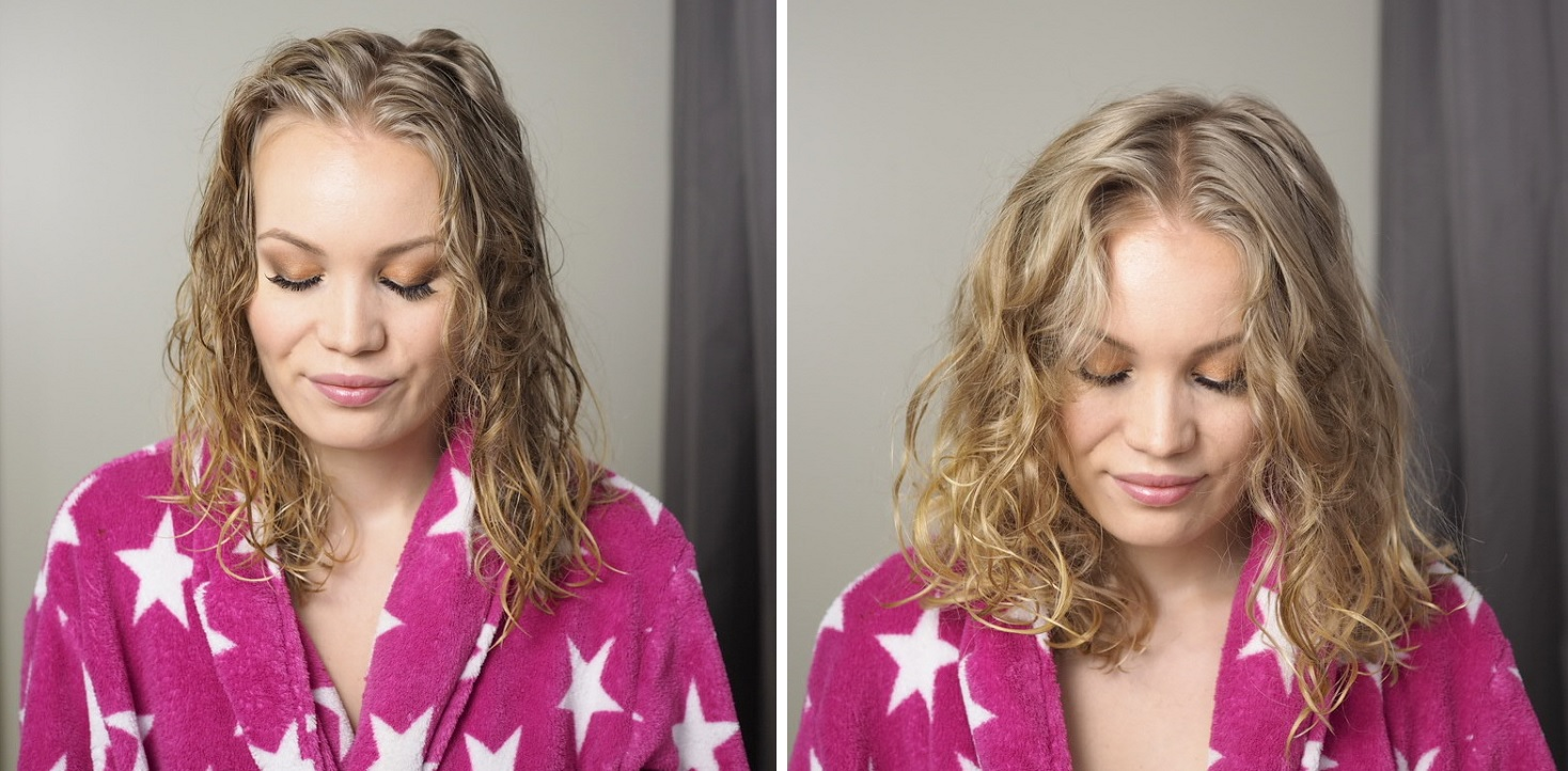 before after diffusing curls