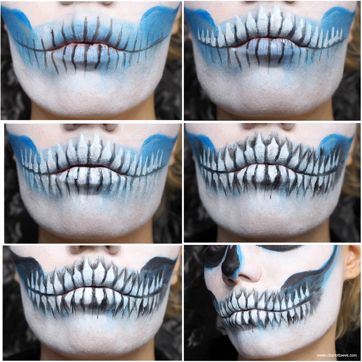 easy skull teeth tutorial