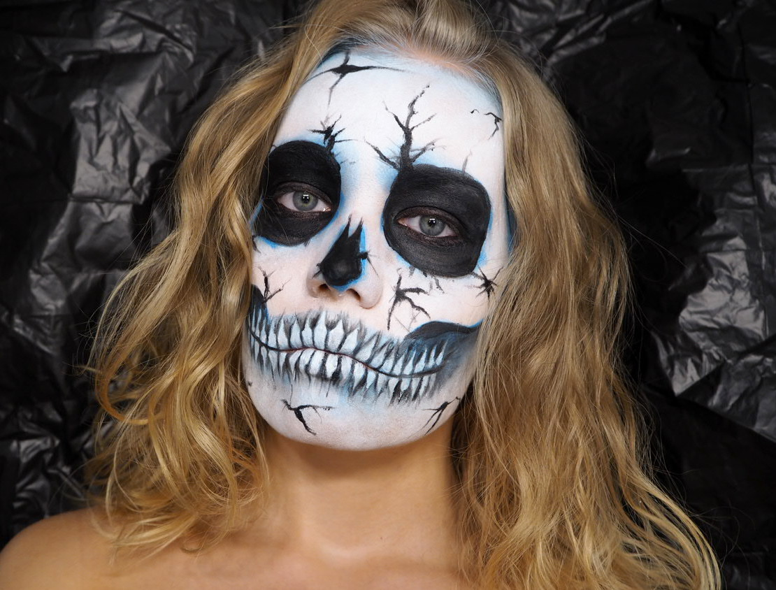 skull makeup halloween tutorial