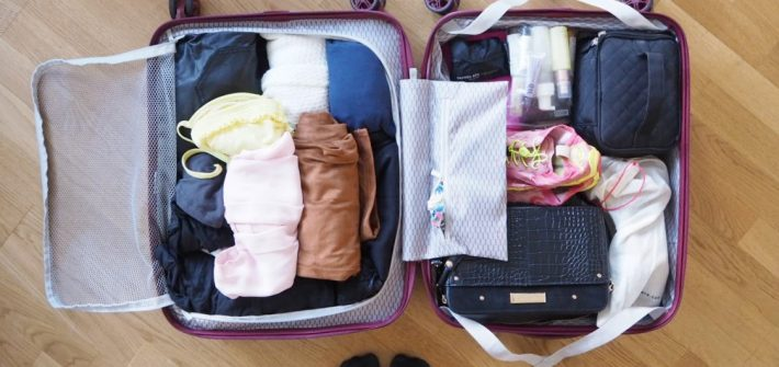 travelling light with hand luggage
