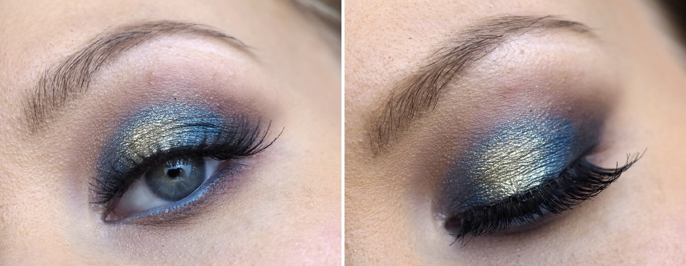 blue gold eye makeup