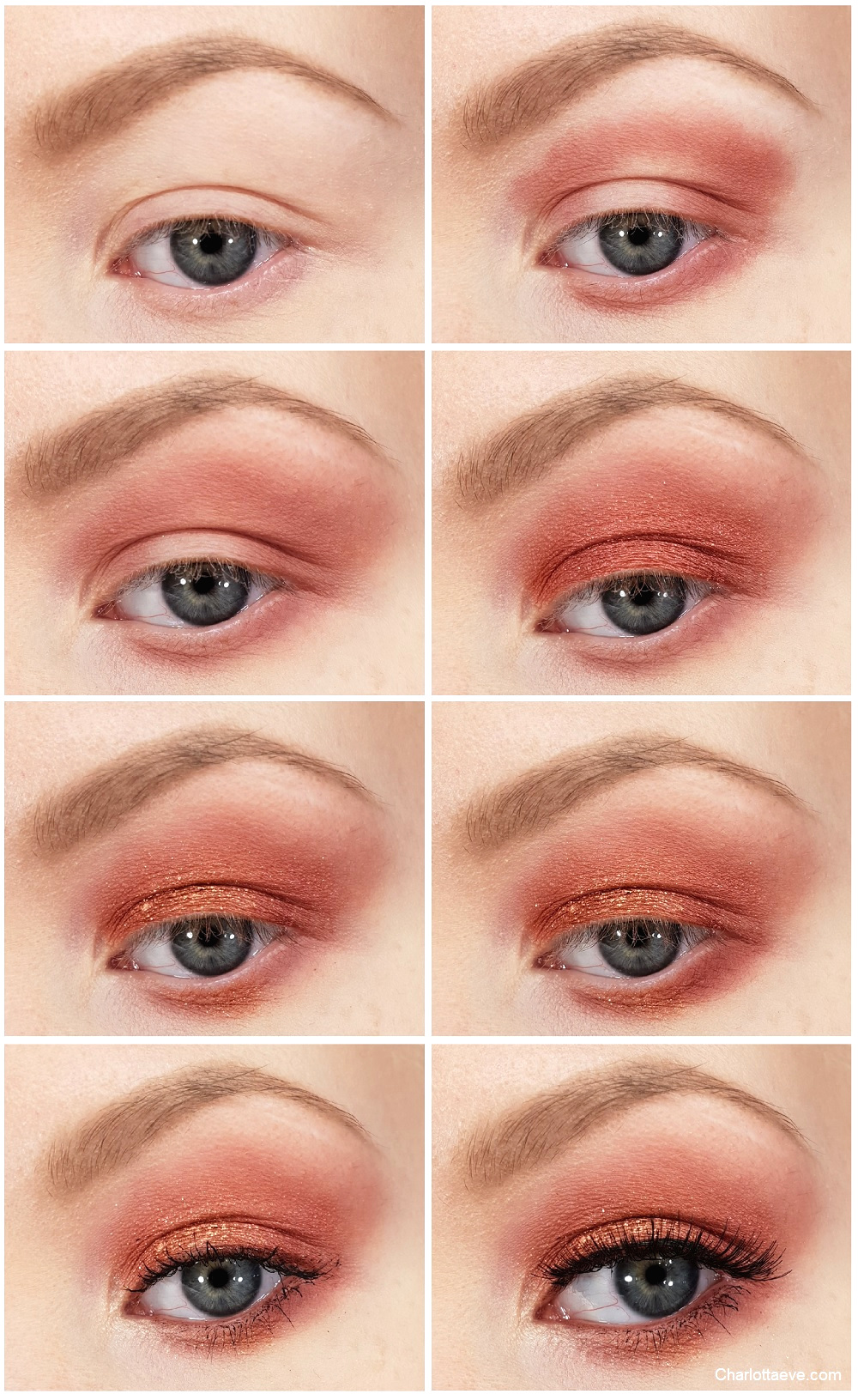 cranberry red and gold eyeshadow tutorial