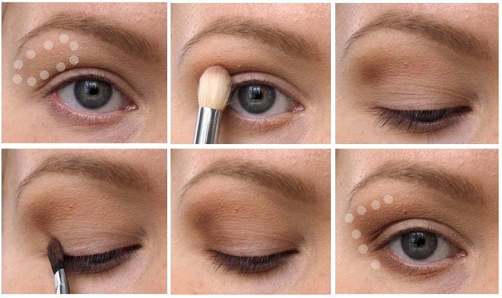 basic eyeshadow shape for deep set and hooded eyes