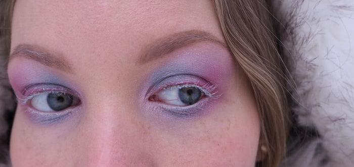 blue pink eyeshadow white lashes