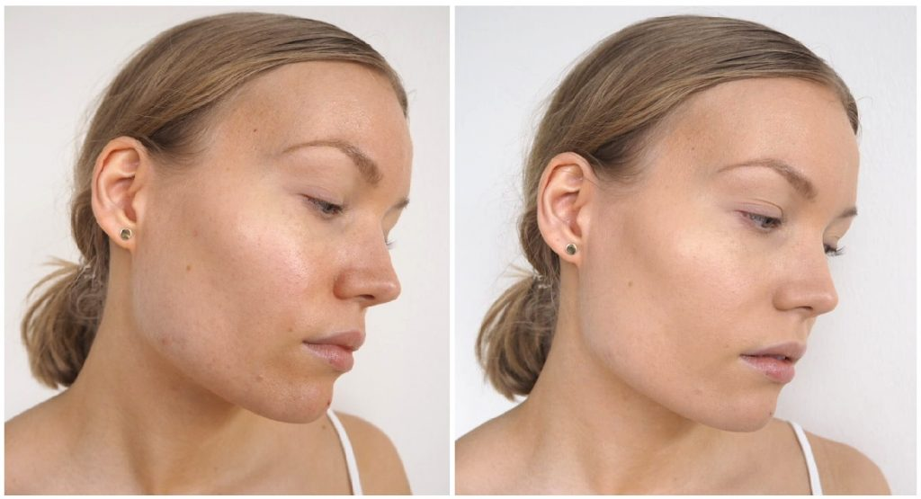 nyx total control dorp foundation before and after