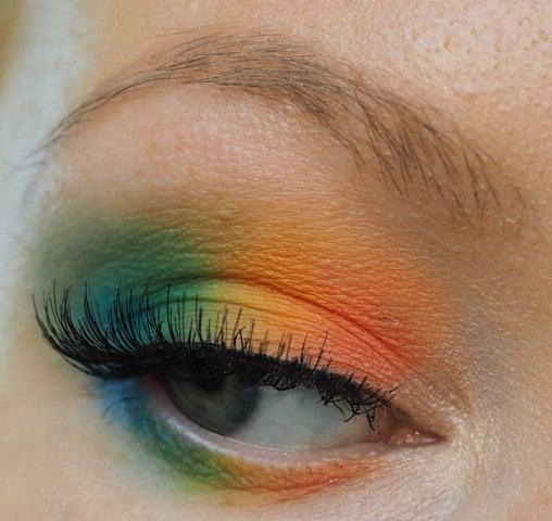 rainbow colored eyeshadow