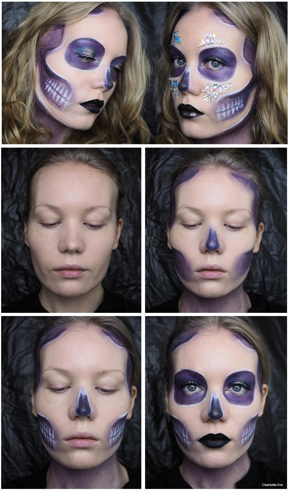 Purple Glam Skull Tutorial