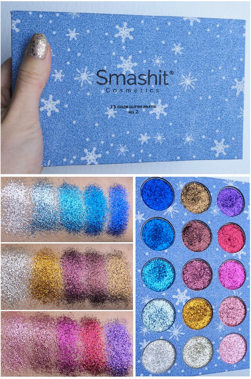 Smashit Color Glitter Palette Mix 2 Swatches