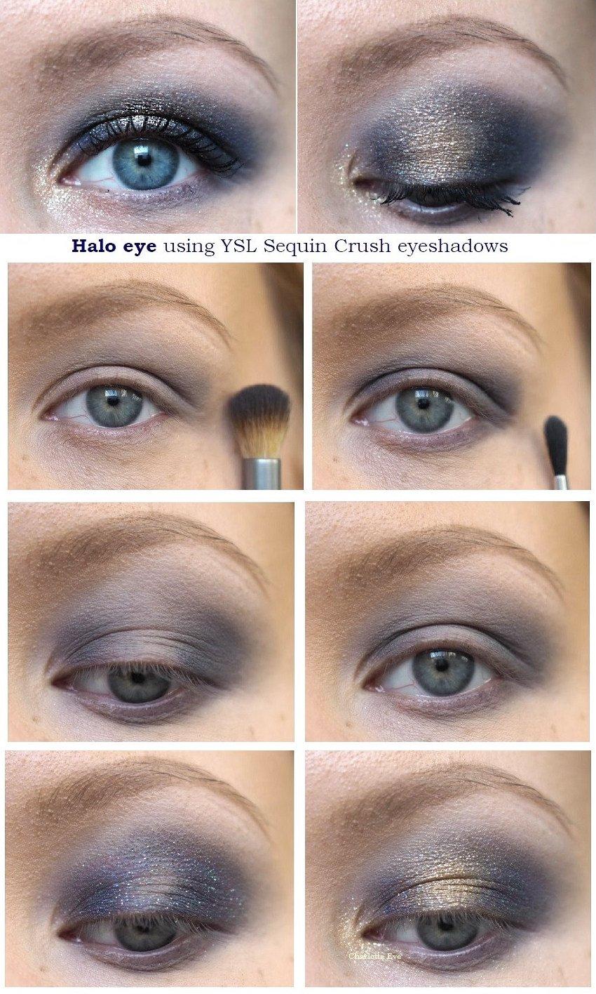 ysl sequin crush halo eye tutorial makeup