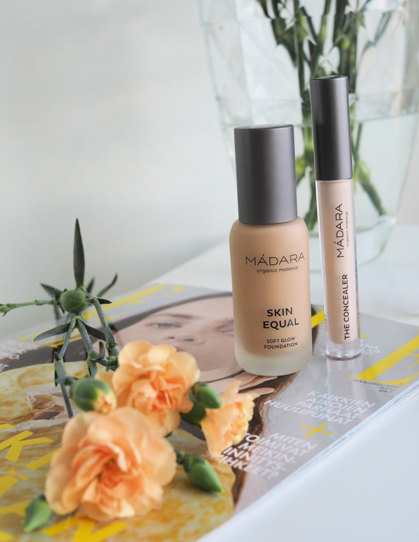 madara organic makeup soft glow foundation concealer review