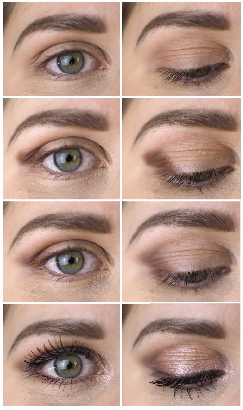 makeup for deep set round eyes tutorial